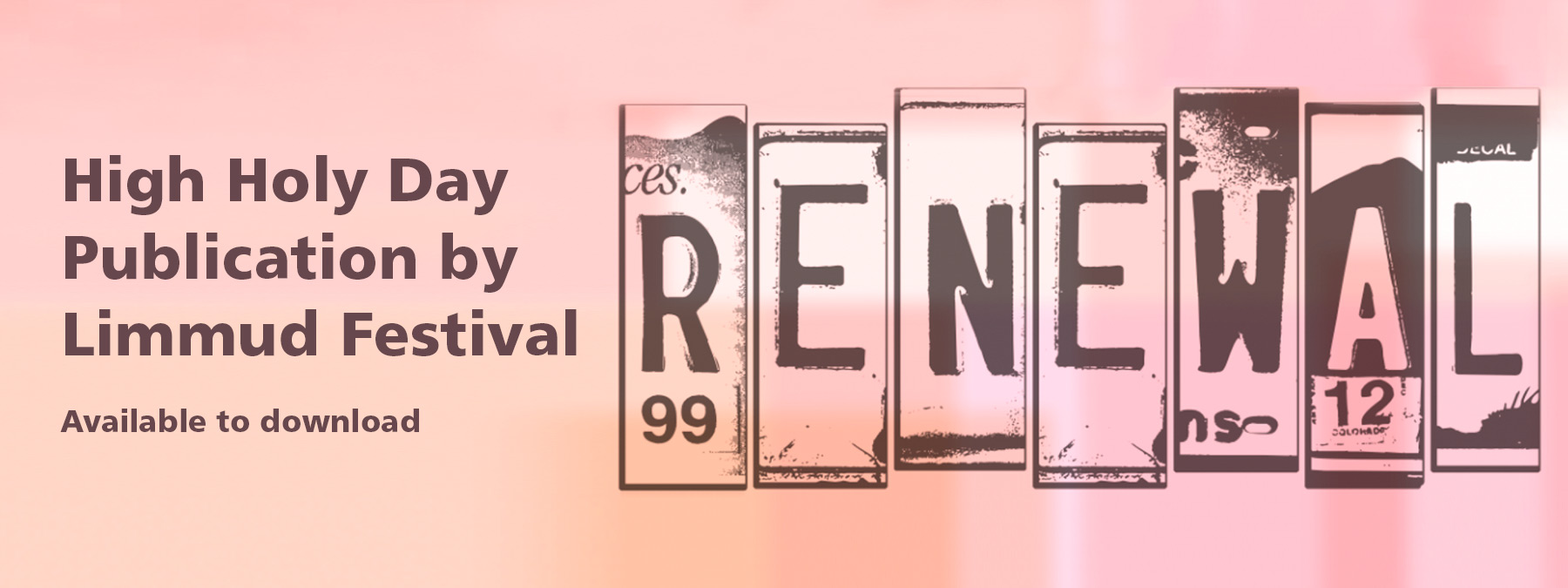 High Holy Day publication RENEWAL, by Limmud Festival